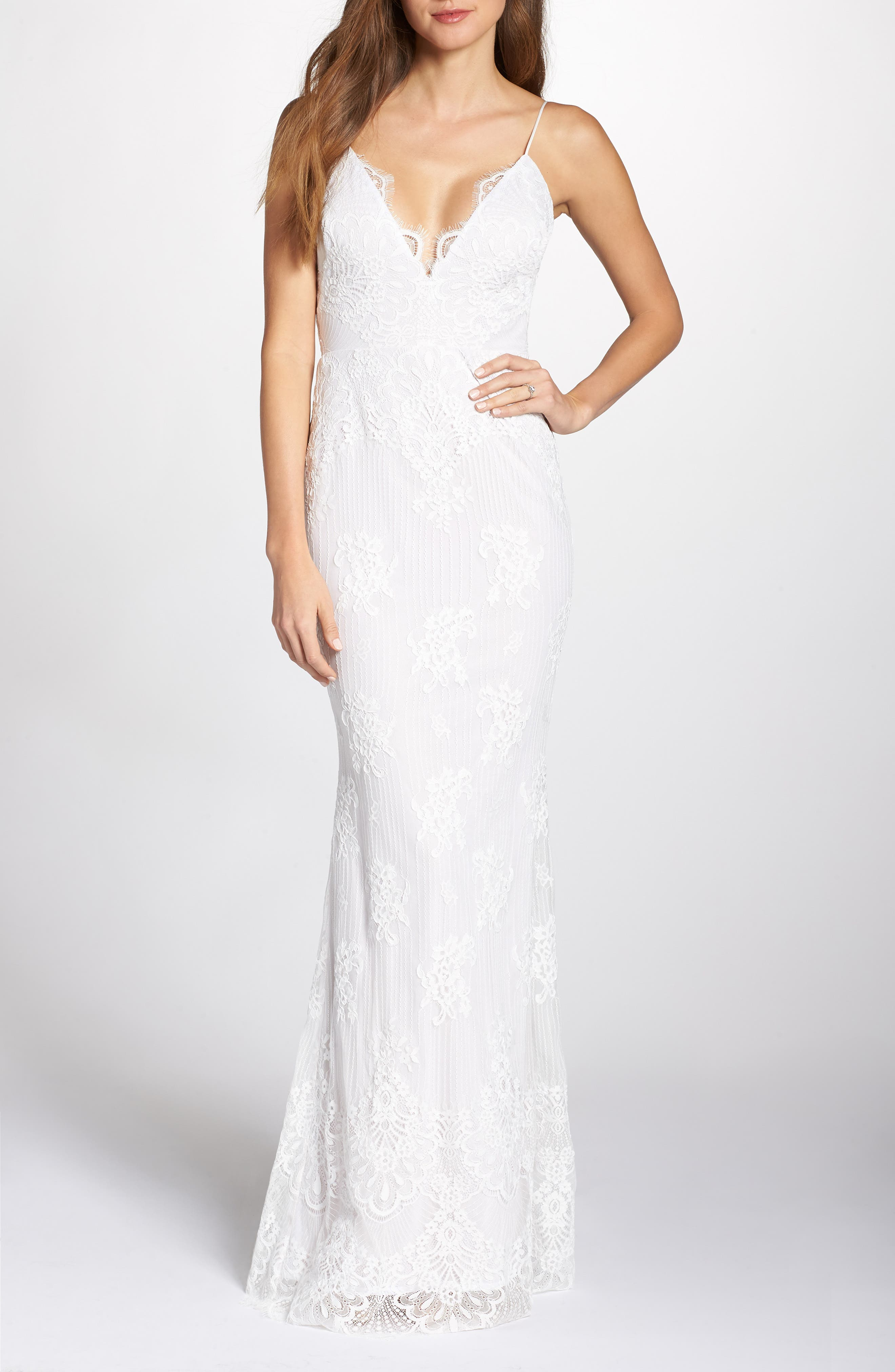 Noel And Jean By Katie May Rose Lace Wedding Dress, Ivory