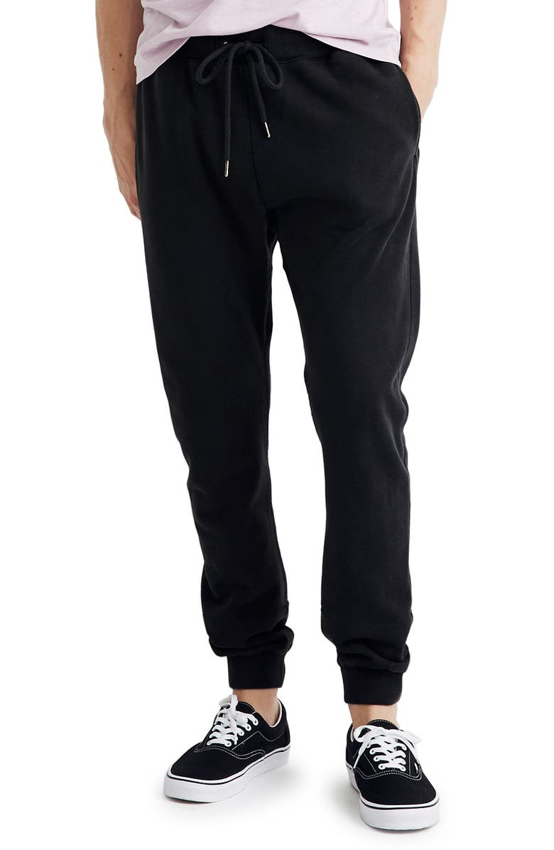 MADEWELL Jogger Sweatpants, Main, color, 001