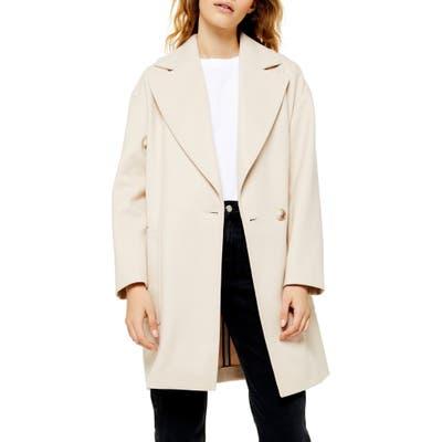 Topshop Carly Coat, US (fits like 2-4) - Beige
