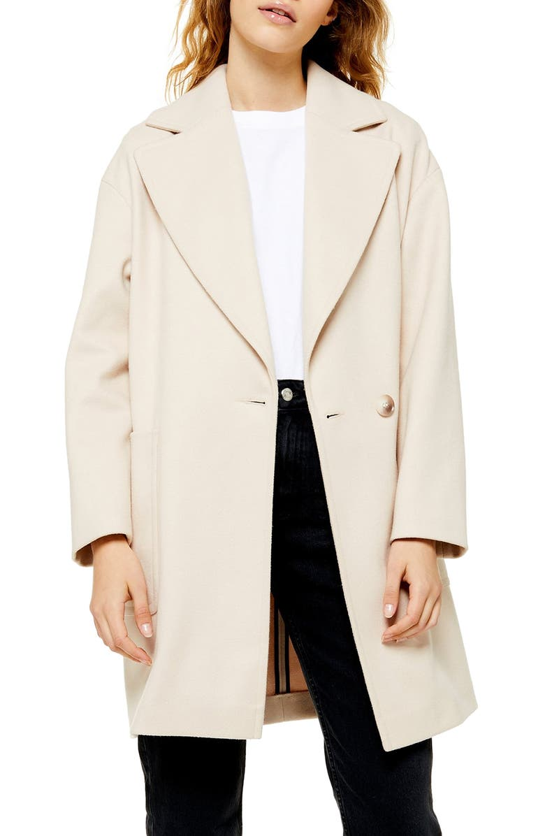 TOPSHOP Carly Coat, Main, color, OATMEAL