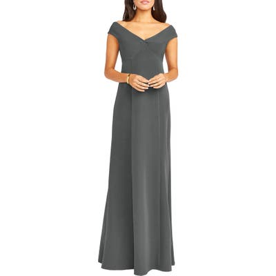 Show Me Your Mumu Zurich Front Knot Gown, Grey