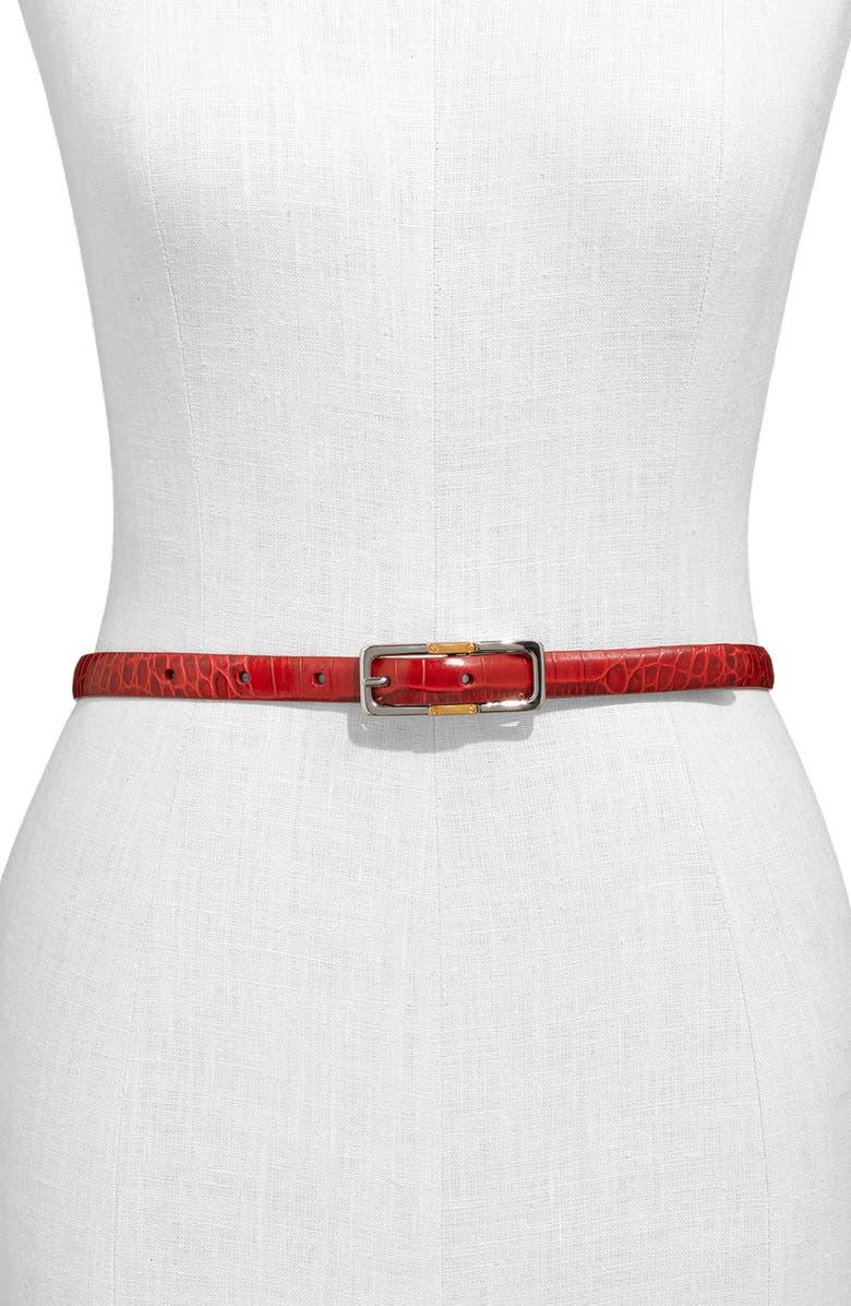 LAUREN RALPH LAUREN Lauren by Ralph Lauren Reversible Skinny Belt, Main, color, 601