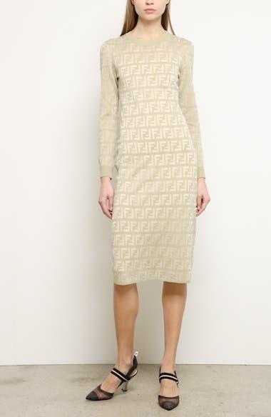 Long Sleeve Logo Jacquard Sweater Dress, video thumbnail