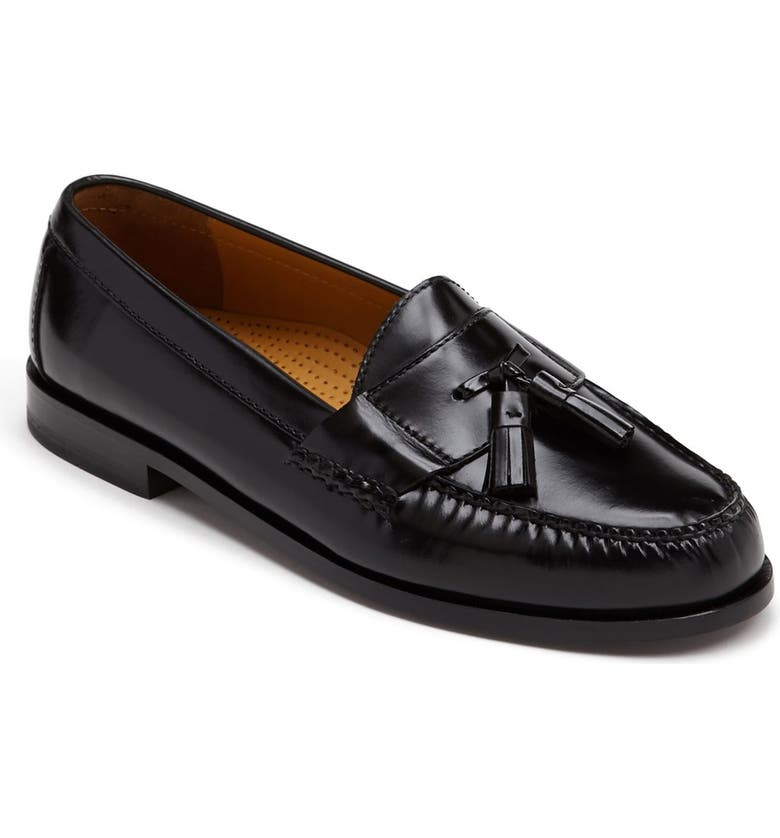 COLE HAAN 'Pinch' Tassel Loafer, Main, color, BLK