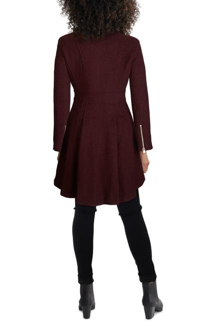Image of GUESS Wool Blend Skirted High Low Coat