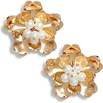 Rachel Parcell Dimensional Floral Stud Earrings (Nordstrom Exclusive)