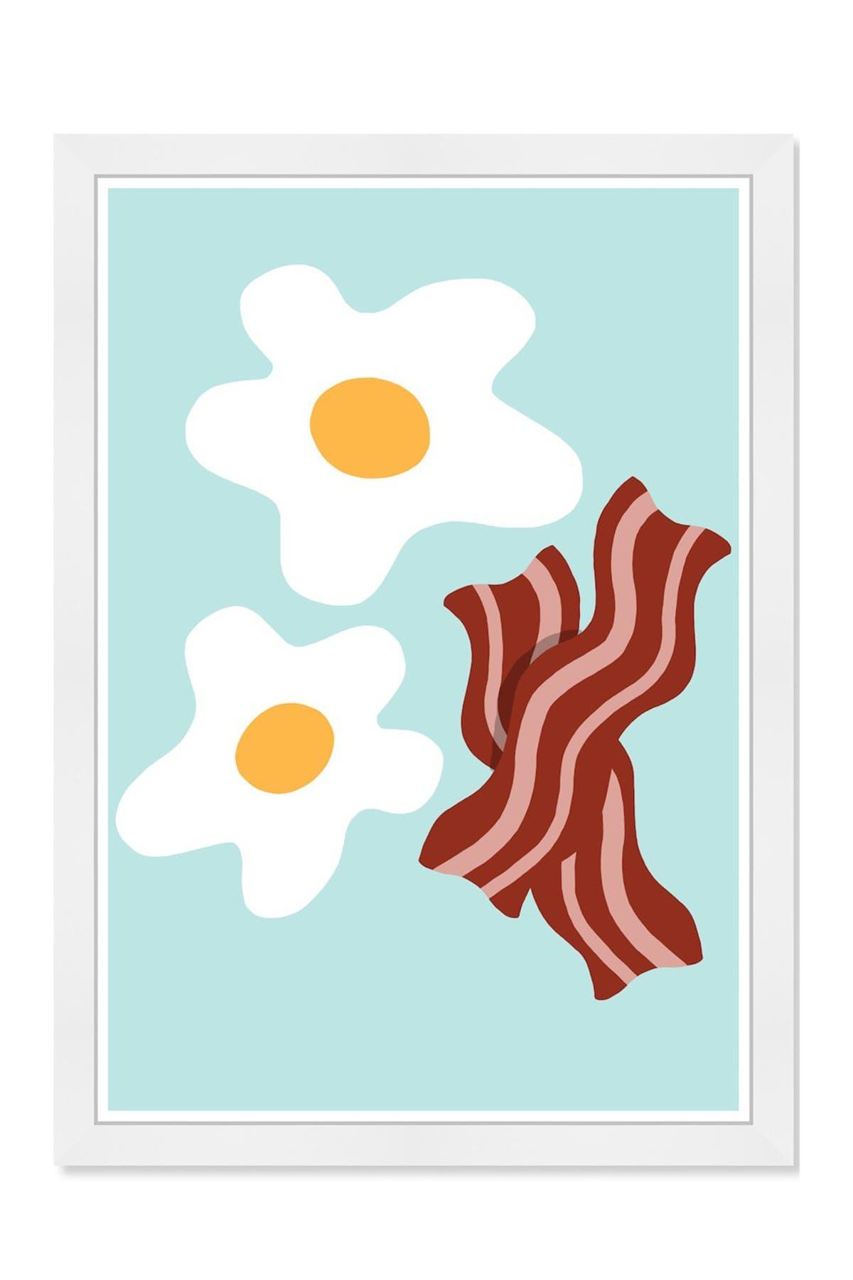 Image of Wynwood Studio Eggs & Bacon Blue Framed Wall Art