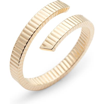 Bony Levy Grooved 14K Gold Bypass Ring (Nordstrom Exclusive)