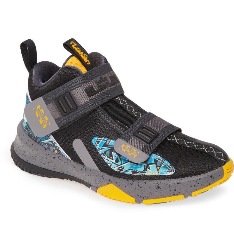 NIKE 'LeBron - Soldier XIII' Basketball Shoe, Main, color, BLACK/UNIVERSITY GOLD/GUNSMOKE
