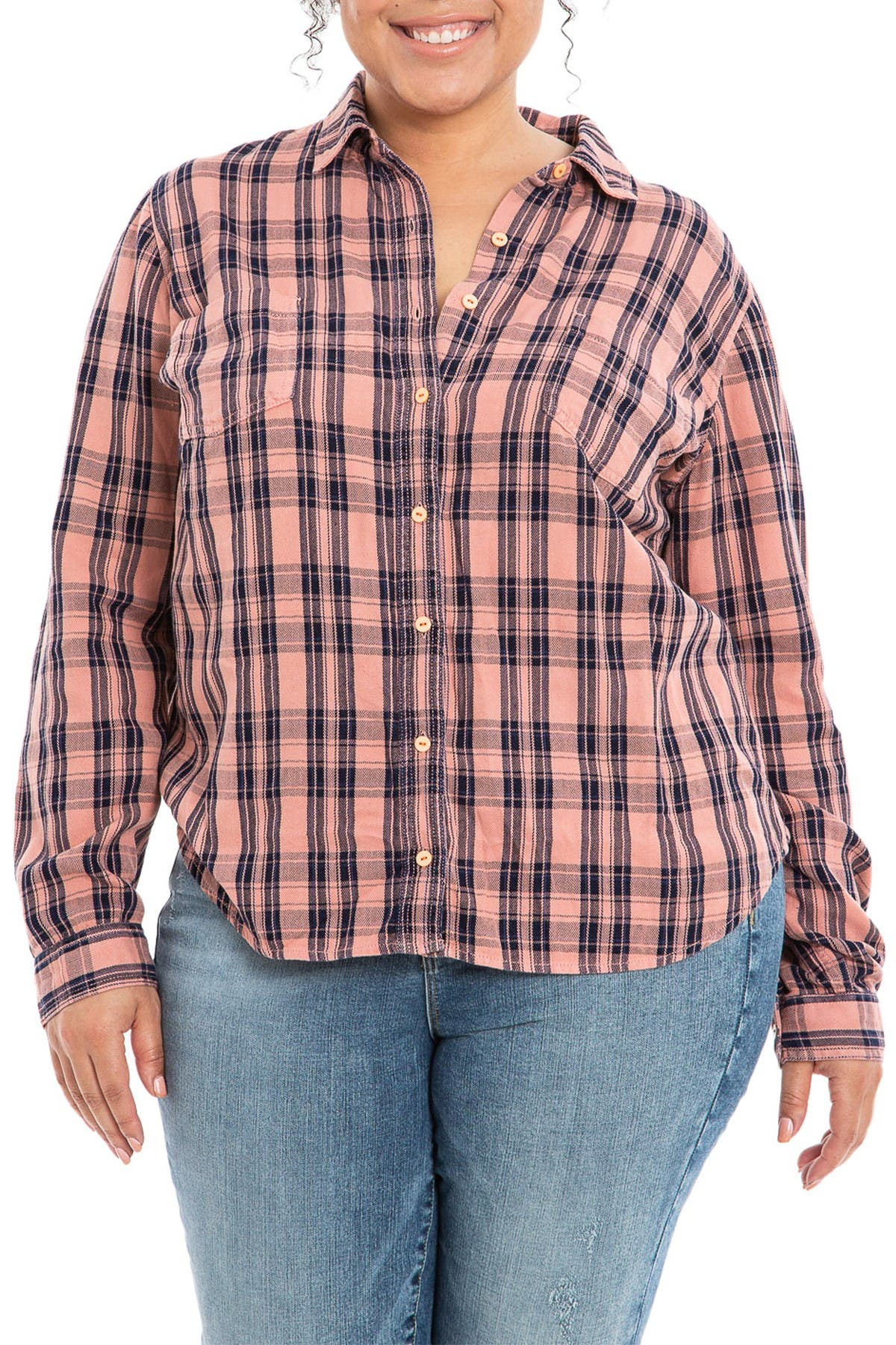Slink Jeans Shirts PLAID WESTERN SHIRT