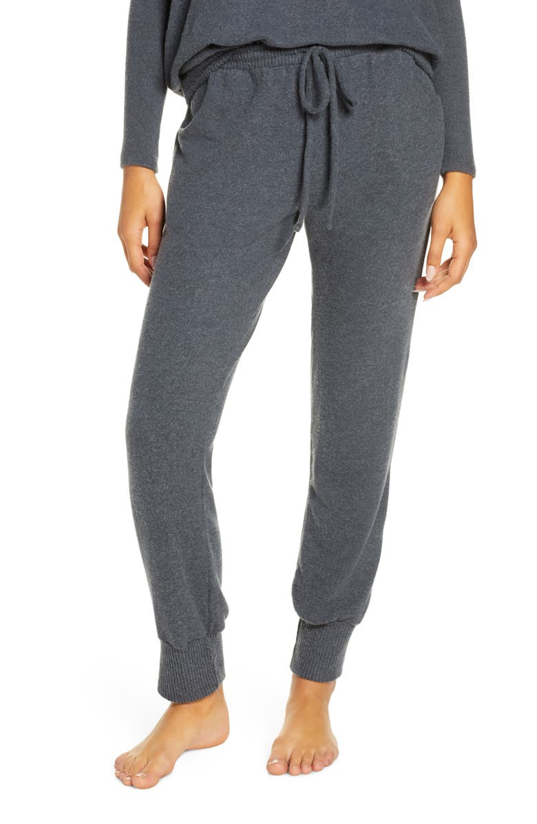 EBERJEY Cozy Time Runner Lounge Pants, Main, color, CHARCOAL HEATHER