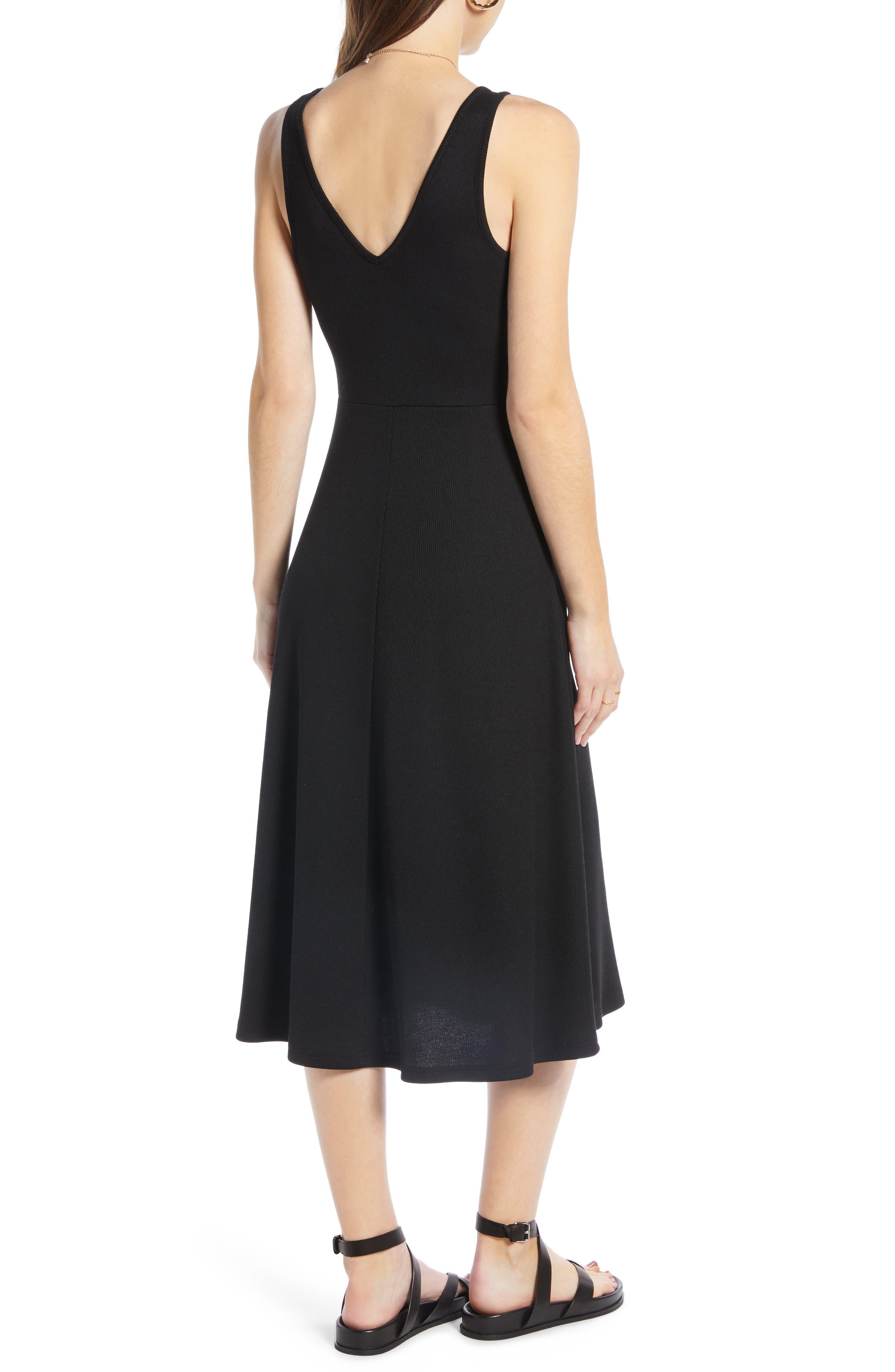 ,                             A-Line Tank Dress,                             Alternate thumbnail 2, color,                             BLACK