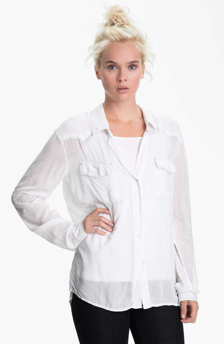 JAMES PERSE Slouchy Western Shirt, Main, color, 100