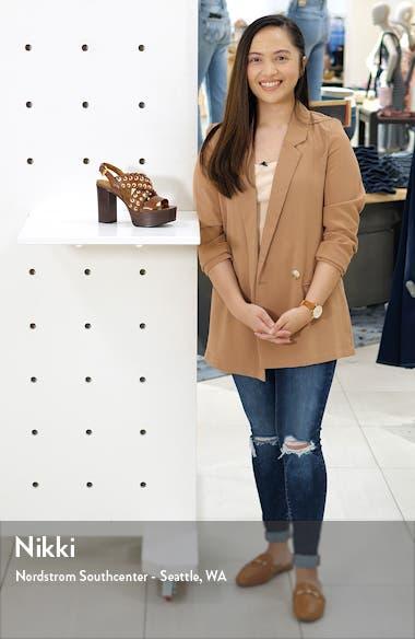 Helen Whipstitch Platform Slingback Sandal, sales video thumbnail