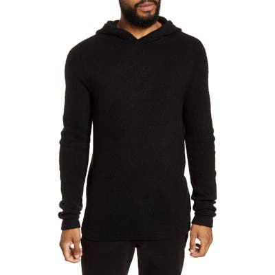 Calibrate Brushed Hooded Sweater, Black