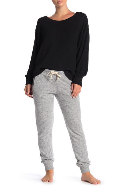Image of Theo and Spence Yummy Pocket Brushed Knit Joggers