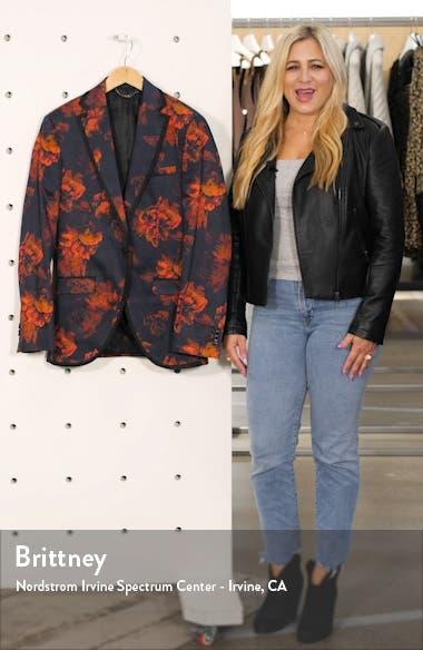 Slim Fit Floral Suit Jacket, sales video thumbnail