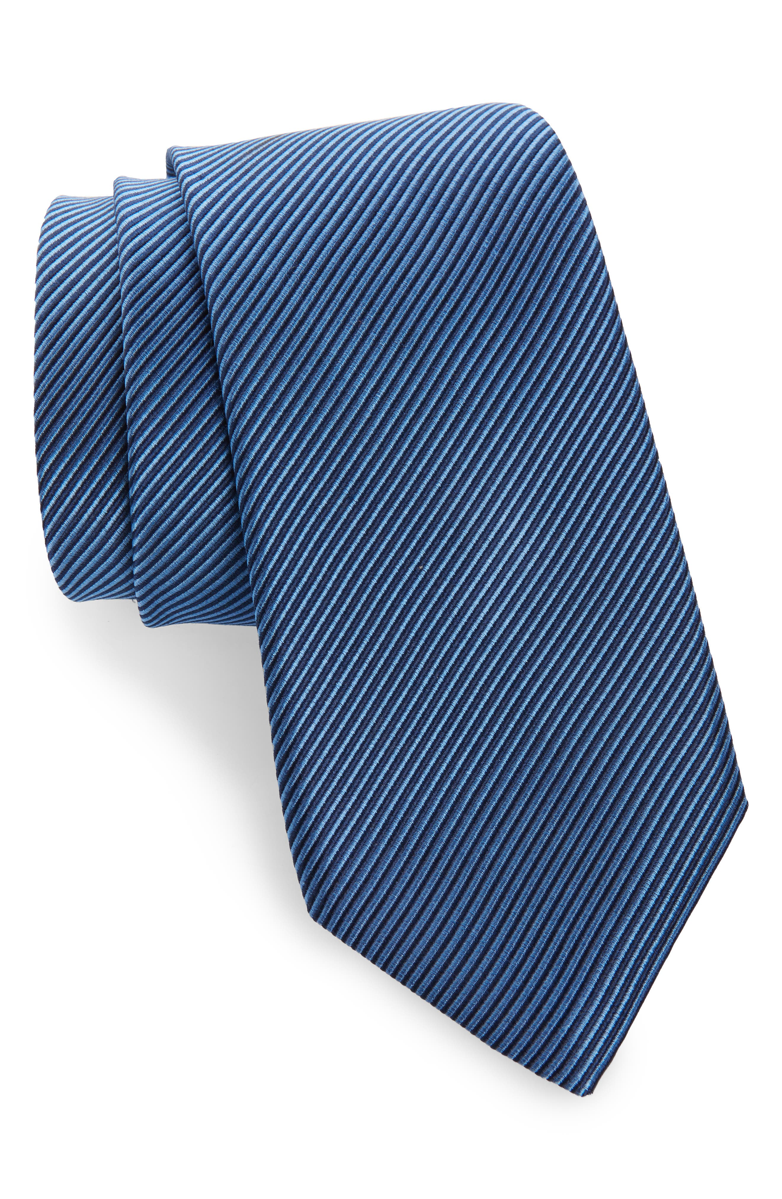 ,                             Stripe Silk Tie,                             Main thumbnail 3, color,                             432