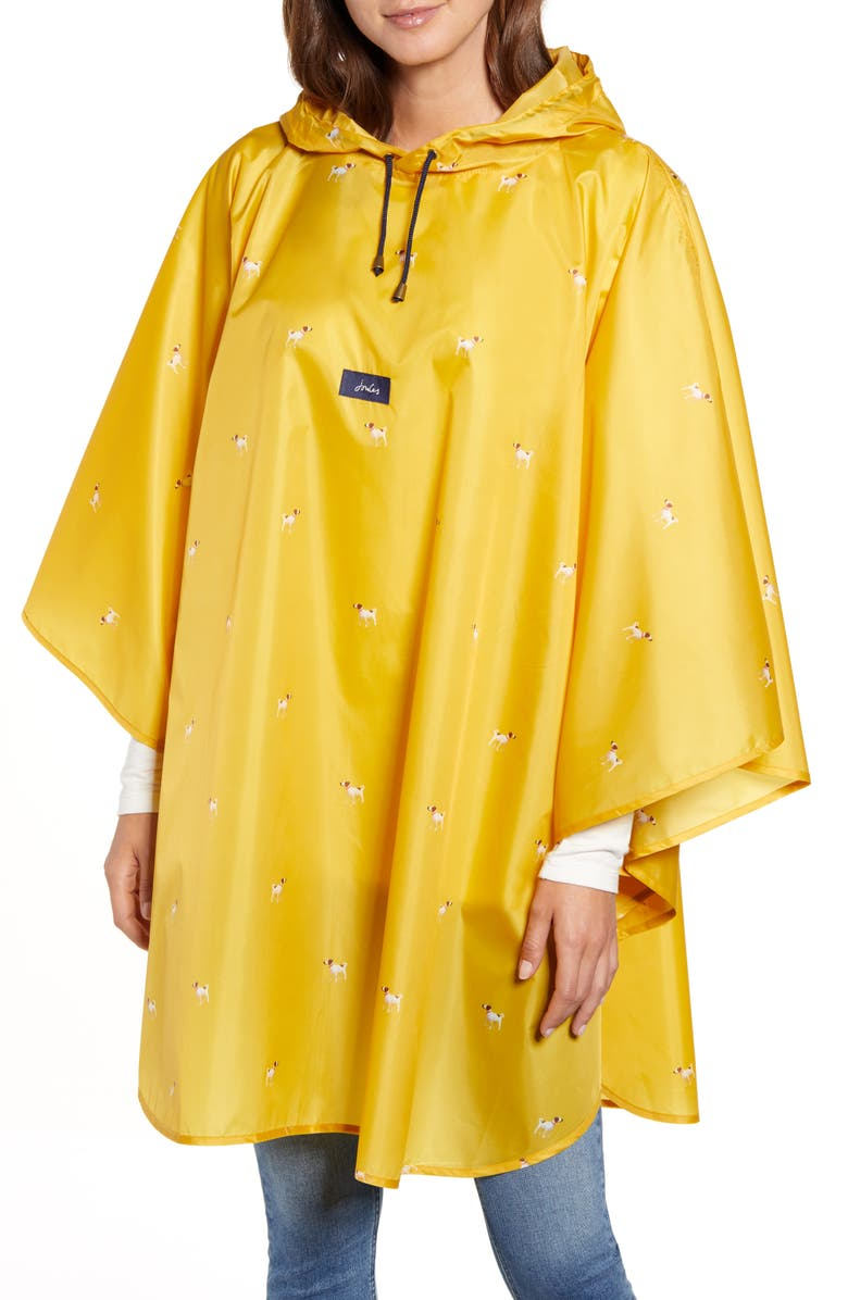 JOULES Showerproof Hooded Poncho, Main, color, 700