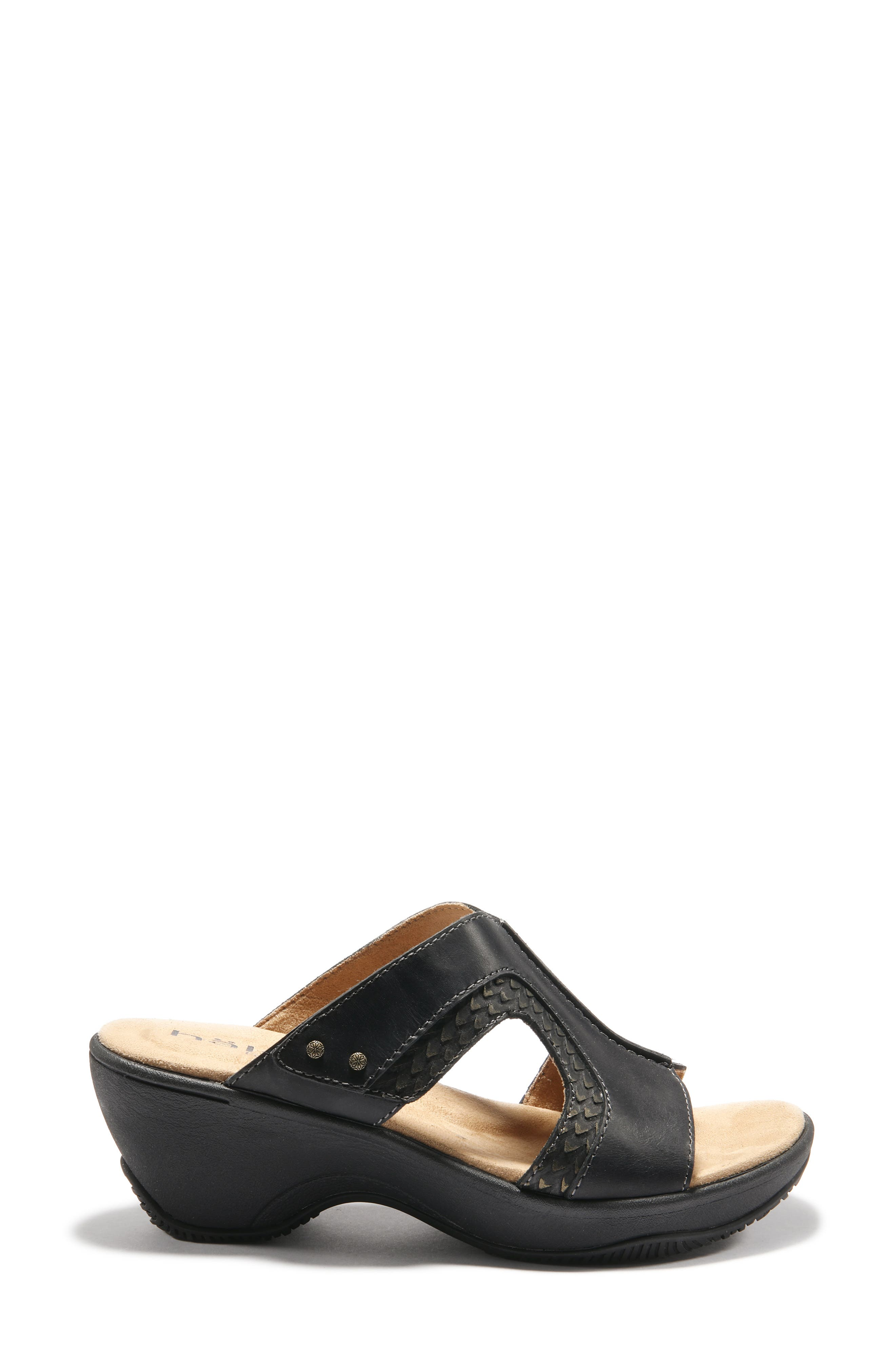 Women's Halsa Footwear Cassandra Wedge Slide Sandal