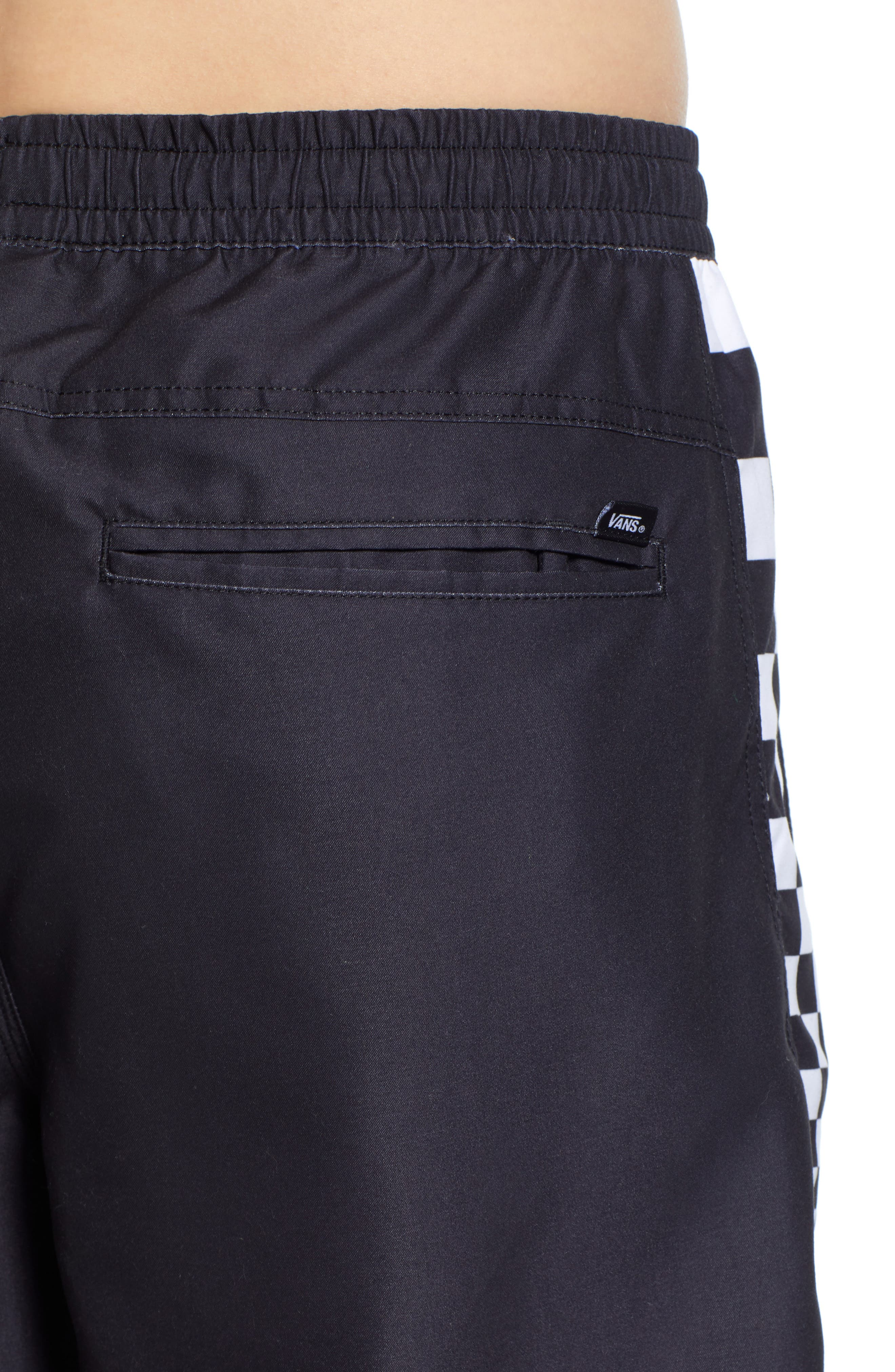 ,                             V Panel Volley Shorts,                             Alternate thumbnail 4, color,                             BLACK