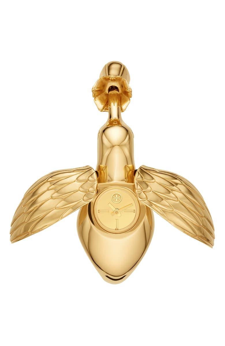 토리버치 Tory Burch The Hummingbird Bangle Watch, 22mm,gold