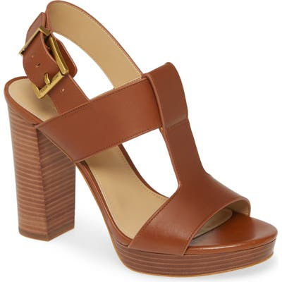 Michael Michael Kors Becker Block Heel Sandal- Brown