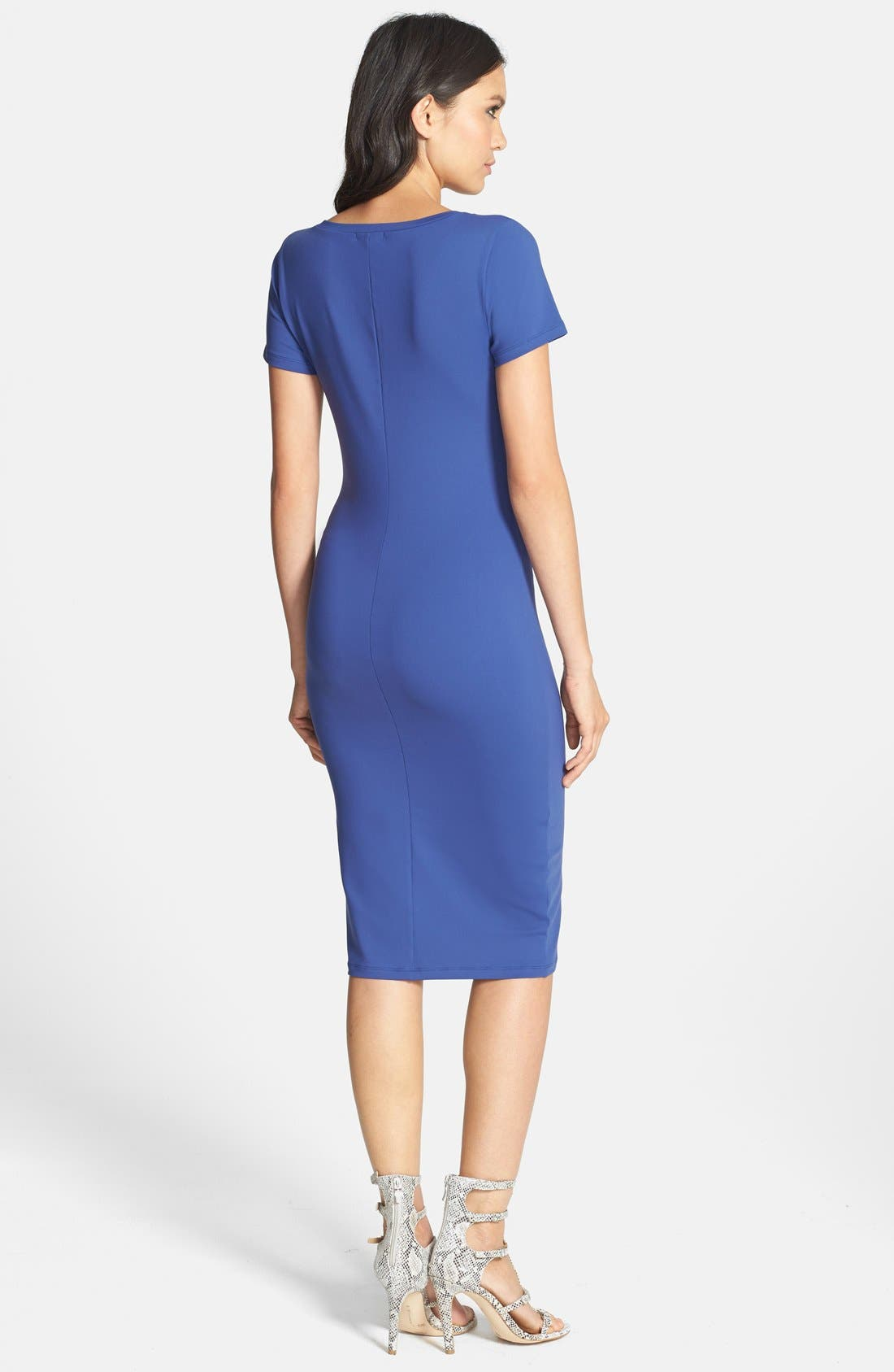 ,                             V-Neck Body-Con Dress,                             Alternate thumbnail 10, color,                             401