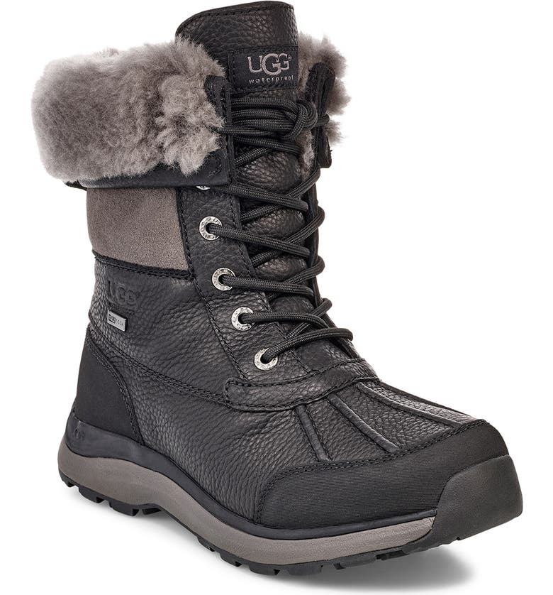 UGG<SUP>®</SUP> Adirondack III Waterproof Boot, Main, color, BLACK