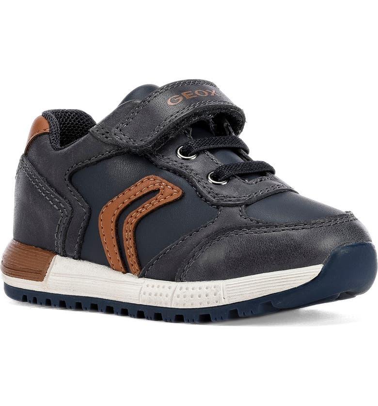 GEOX Alben 5 Sneaker, Main, color, NAVY/ COGNAC