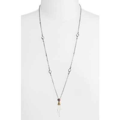 Konstantino Pythia Long Crystal Pendant Necklace