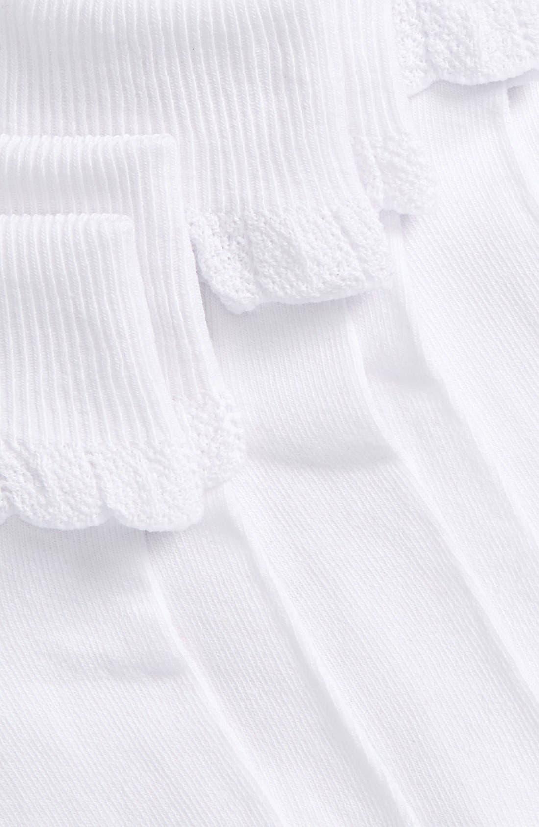 ,                             3-Pack Socks,                             Alternate thumbnail 2, color,                             WHITE