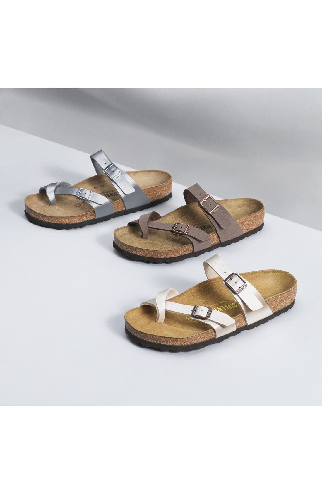 ,                             'Mayari' Birko-Flor<sup>™</sup> Sandal,                             Alternate thumbnail 6, color,                             SILVER
