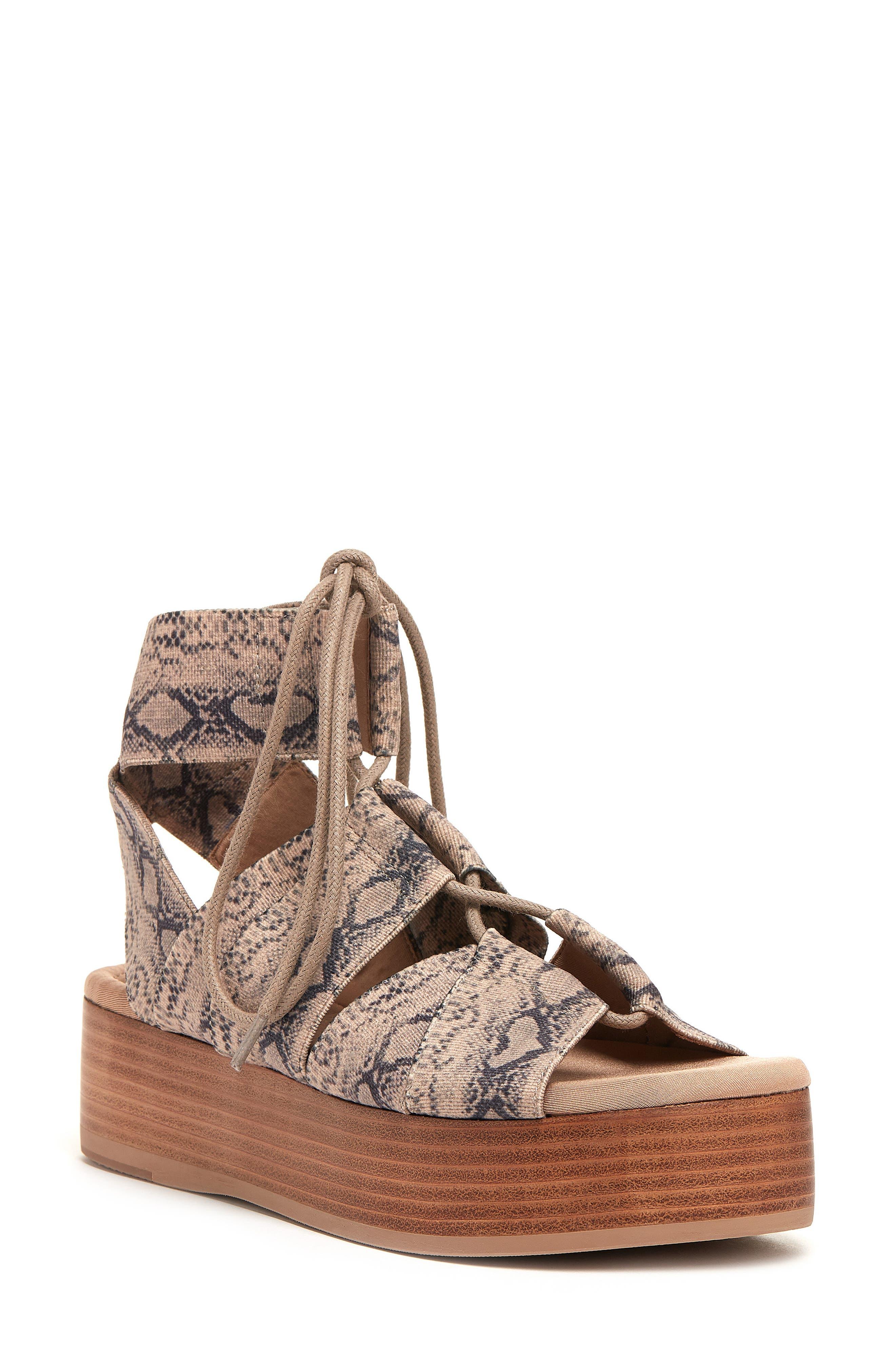 Decatur Platform Lace-Up Sandal