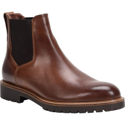 Ross & Snow Fabio Genuine Shearling Lined Chelsea Boot, Brown