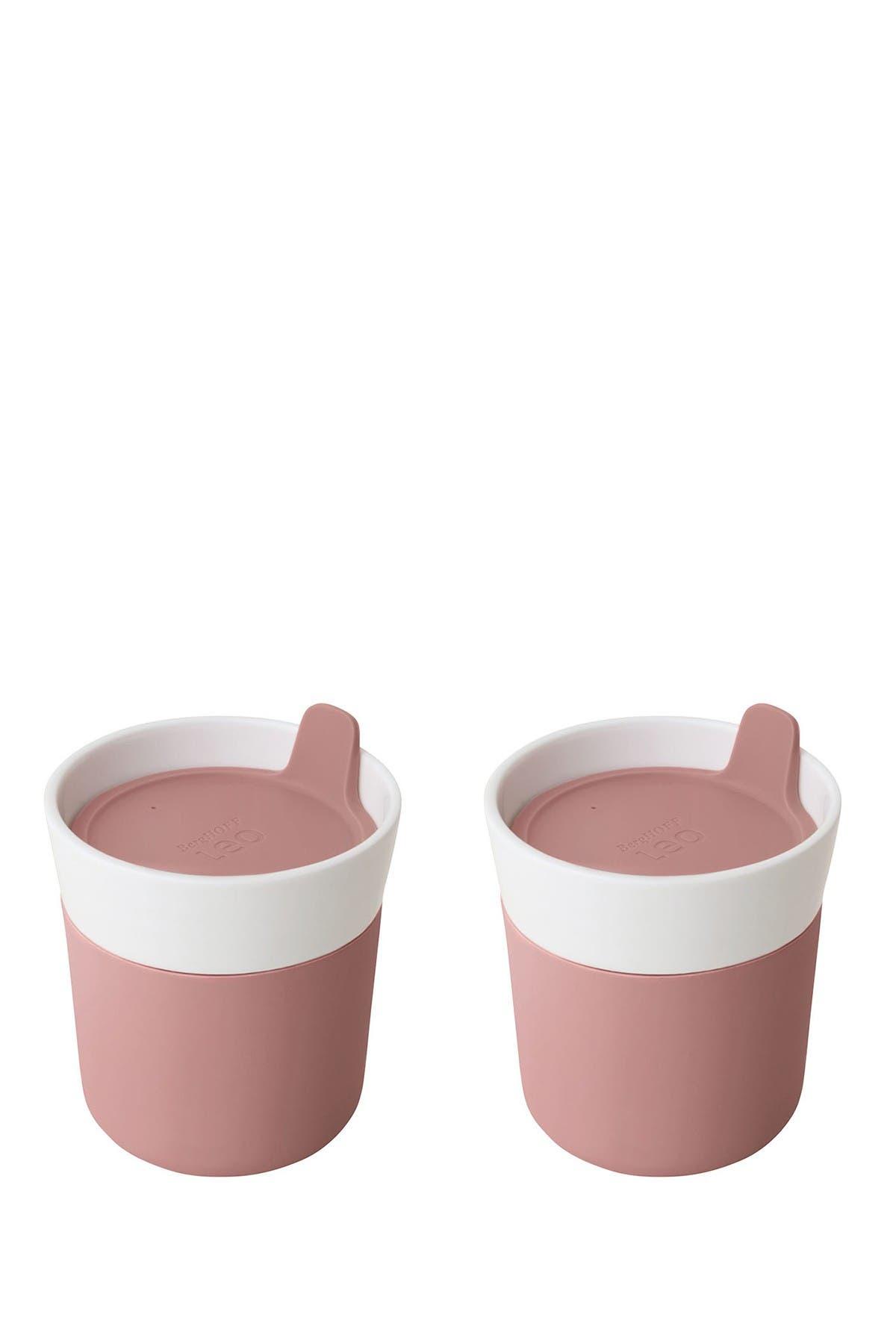 Image of BergHOFF Leo 8.45oz Porcelain Travel Mug - Set of 2