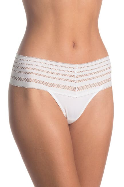 Image of DKNY Classic Wide Lace Trim Thong
