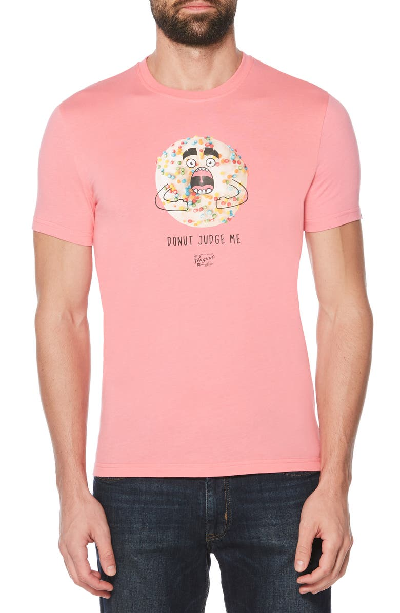 ORIGINAL PENGUIN Donut Judge Me Graphic T-Shirt, Main, color, 688