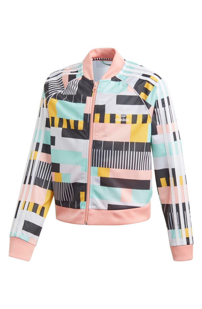ADIDAS SST Print Crop Track Jacket, Main, color, 020
