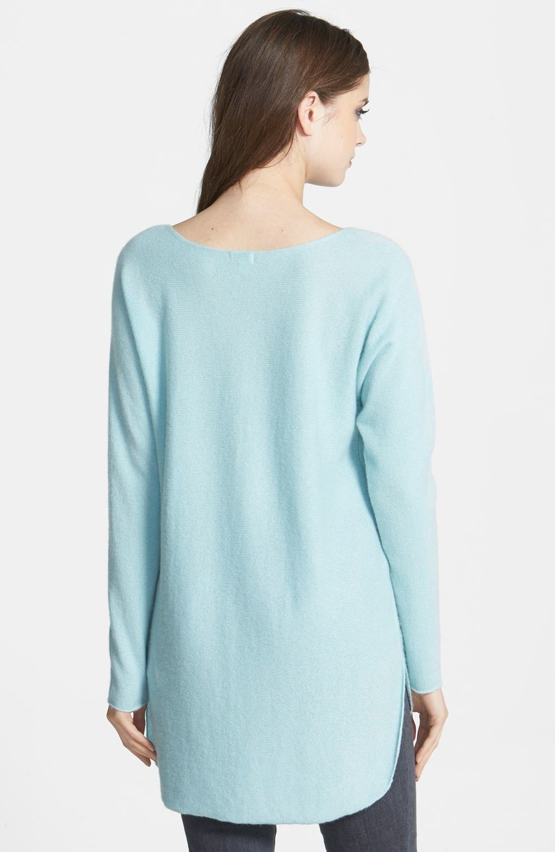 ,                             High/Low Cashmere Tunic Sweater,                             Alternate thumbnail 16, color,                             450