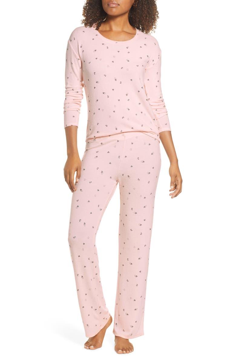 BP. Girlfriend Pajamas, Main, color, PINK VEIL ROSE HEARTBREAKER