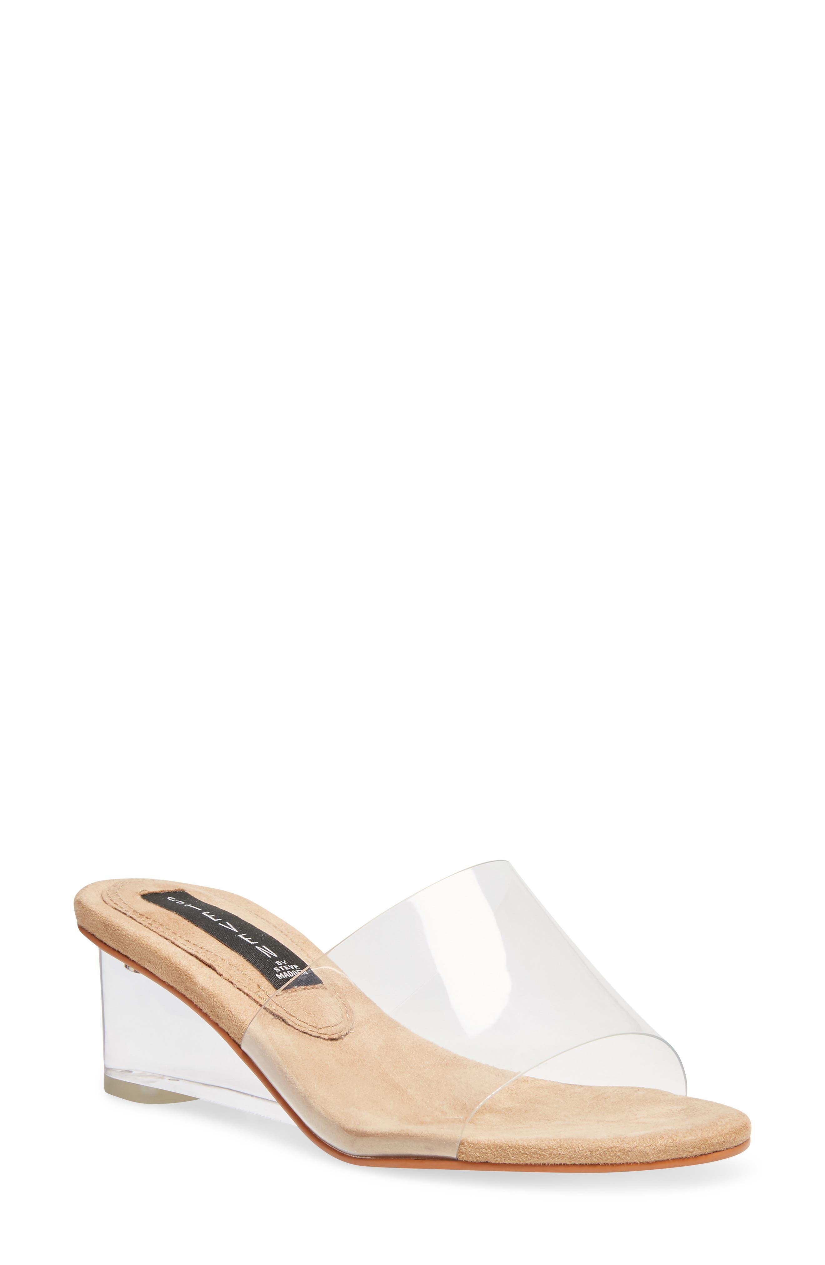 Steven by Steve Madden Iza Transparent Slide Sandal (Women)