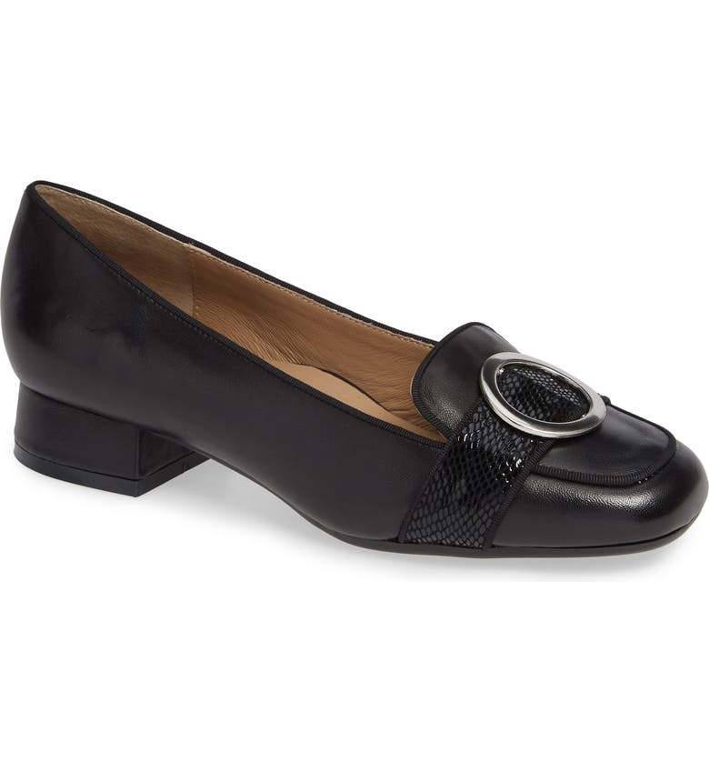 BETTYE MULLER CONCEPTS Garbo Loafer, Main, color, BLACK LEATHER