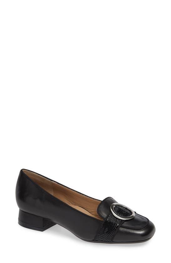 Bettye Muller Garbo Loafer In Black Leather