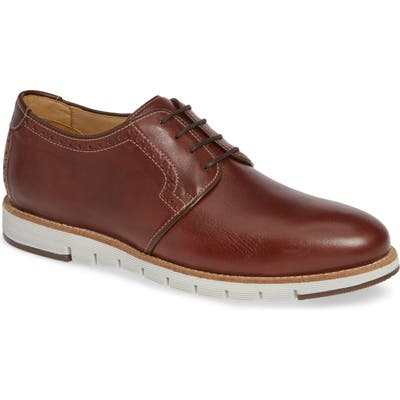 J & m 1850 Martell Plain Toe Derby- Brown