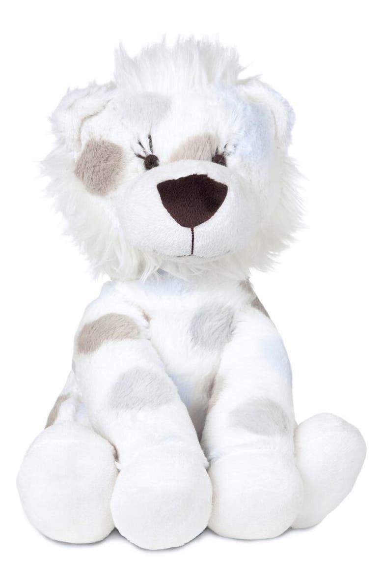 LITTLE GIRAFFE Luxe Plush Little Lion Stuffed Animal, Main, color, BLUE