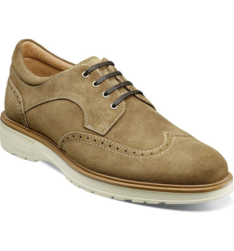 FLORSHEIM Astor Wingtip Derby, Main, color, MUSHROOM