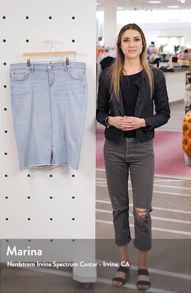 High Waist Denim Skirt, sales video thumbnail