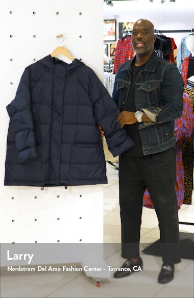 Recycled Nylon Hooded Down Coat, sales video thumbnail