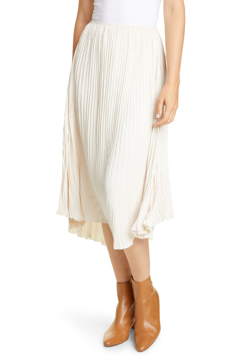 VINCE Crushed Pleated Drape Skirt, Main, color, PALE ALDER